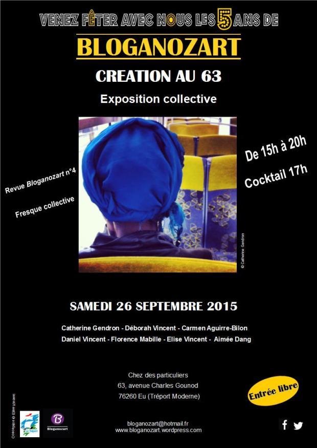Affiche exposition Création au 63 2015