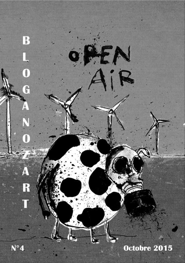 Couverture de la revue Bloganozart n°4, octobre 2015, signée par l'artiste Moogly